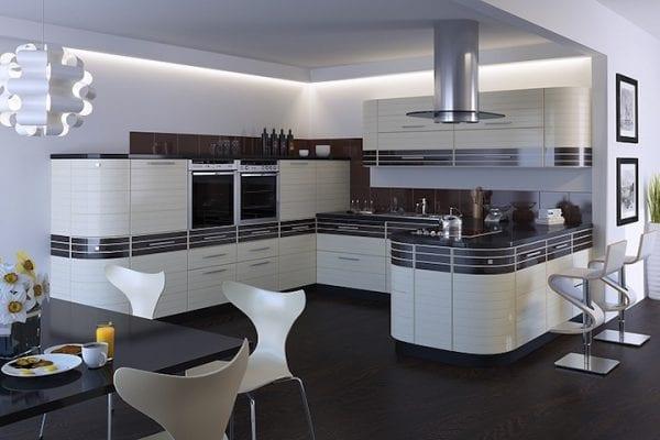 комбинированные фасады для кухни