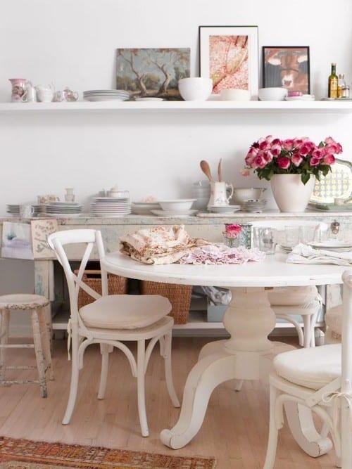 Кухонный дизайн в стиле шебби-шик