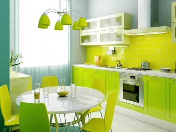 Цветовой дизайн кухни