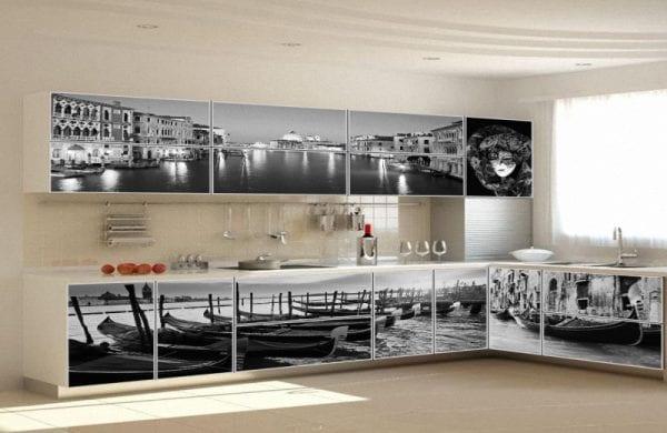 Фотопечать на кухонных фасадах