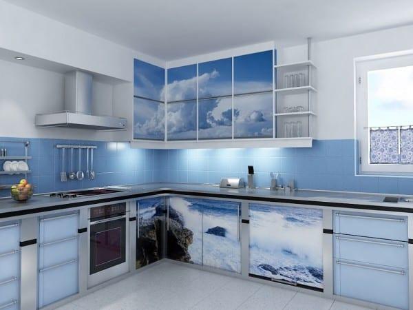 Кухня с фотофасадами