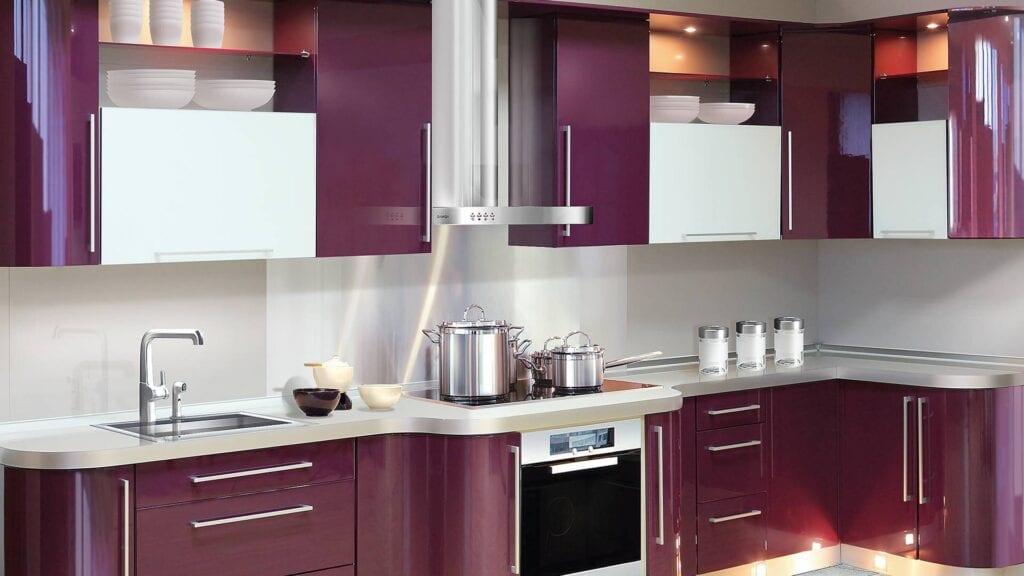 Варианты фасадов кухни цвета