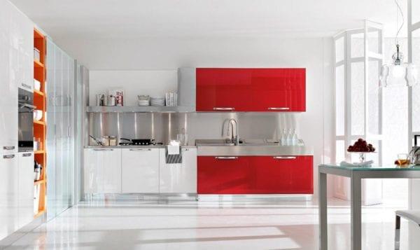 Современная кухня комбинированных цветов