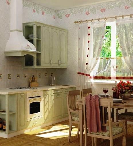 маленькая кухня в стиле прованс фото готовых дизайн проектов