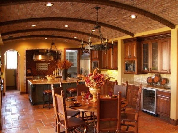 Дизайн итальянской кухни в стиле кантри