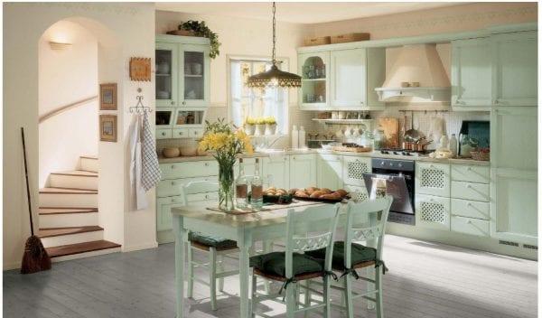 Пол на кухне в стиле прованс