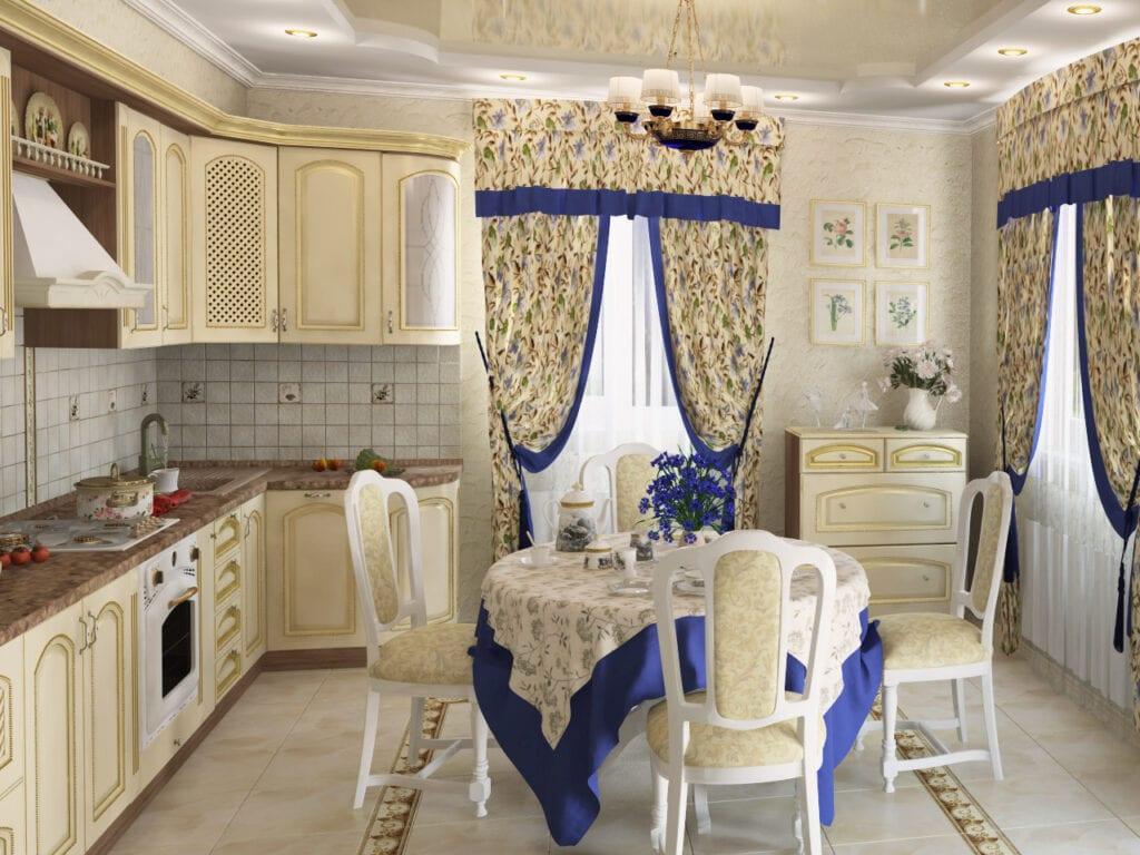 дизайн интерьера кухни в стиле прованс советы по оформлению интерьера
