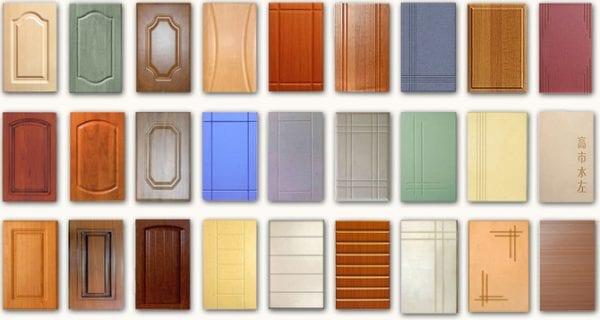 Образцы кухонных пленочных фасадов МДФ