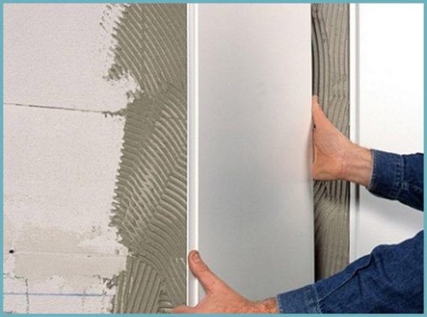 Бескаркасная облицовка стен пластиковыми панелями
