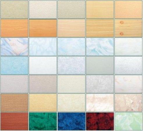 Разнообразная цветовая гамма панелей ПВХ.