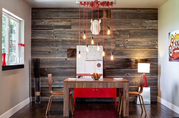 Панели из дерева на кухне
