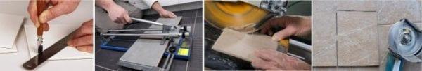 Обрезка плитки фартук кухня