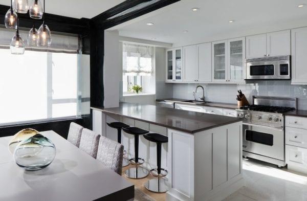 Дизайн кухни-столовой с барной стойкой