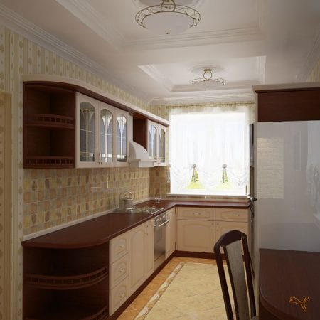 Кухня с П-образным гарнитуром