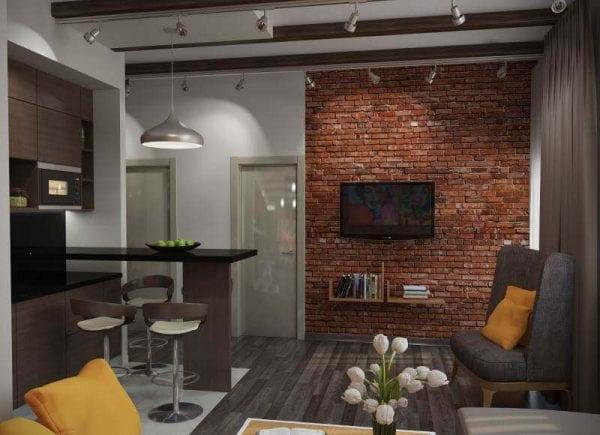 Оформление кухни площадью 9 кв. метров в стиле лофт