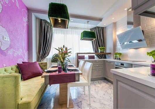 Кухня 9 кв. метров