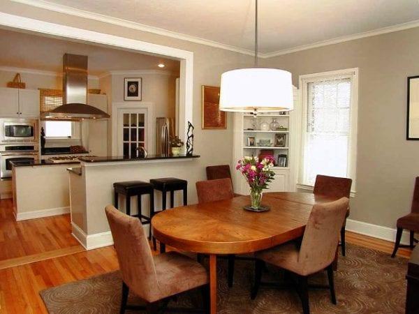 Дизайн кухни-столовой-гостиной в частном доме
