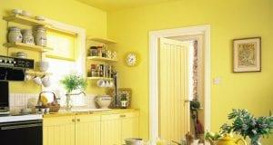 Желтая отделка кухонных стен: идеи для гармоничного интерьера