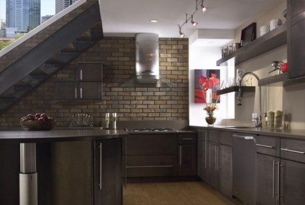 Кухонный фартук из клинкера