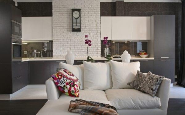 Интерьер кухни-гостиной в стиле фьюжн