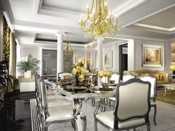 Совмещенная планировка пространства в классическом стиле