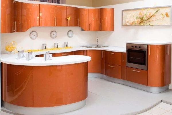 Гнутые фасады для кухни - нестандартные формы кухонного гарнитура