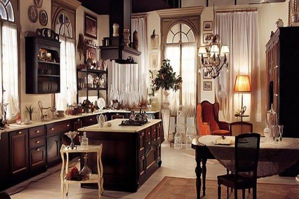 Темная кухня в стиле прованс