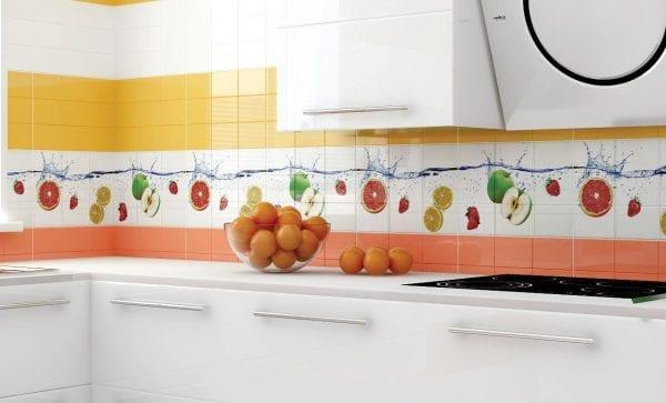 Кухонный фартук из плитки