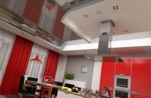 Чем отделать потолок на кухне