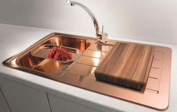 Медная раковина для кухни