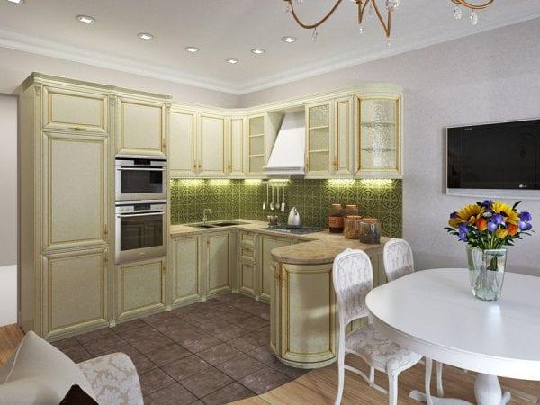 Кухня-гостиная 13 кв. м