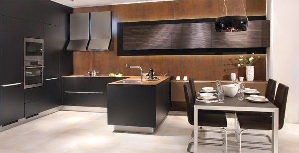 Г-образная кухня в стиле модерн