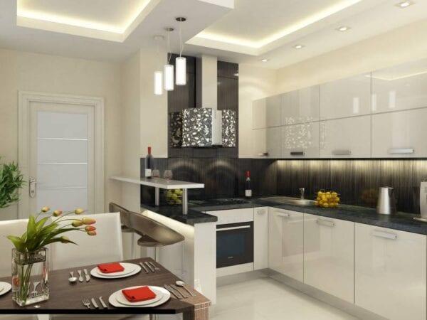 Кухня 10 кв метров интерьер