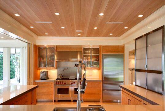 Потолок из пластиковых панелей на кухне - практичность и стиль
