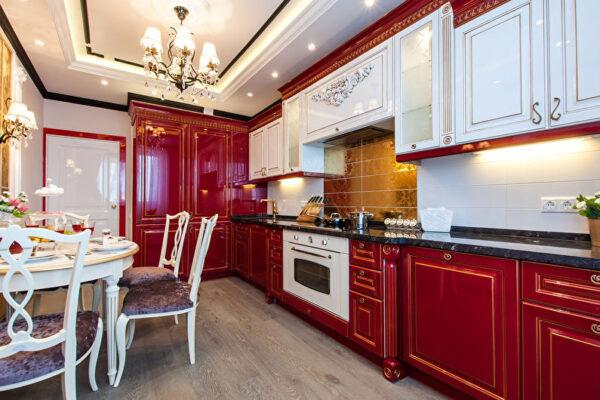 Красная кухня классика