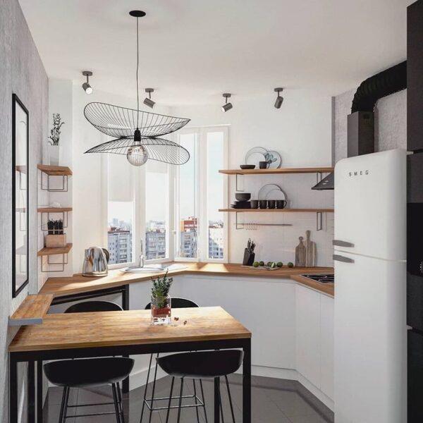 Нестандартные планировки маленьких кухонь