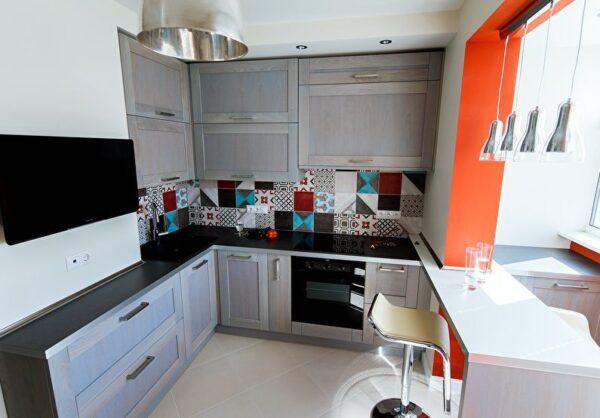 Необычные кухни в маленькую кухню