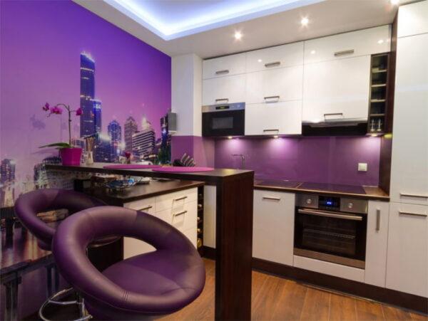 Кухни в фиолетовых тонах фото