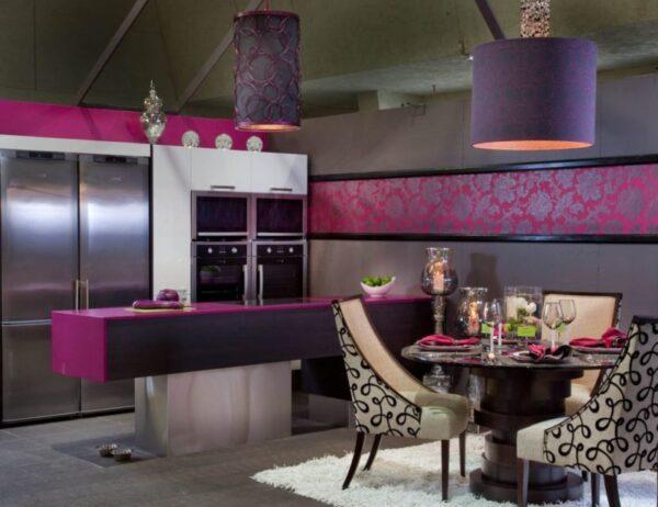 Кухни в сиреневом цвете фото