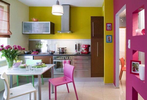 Лилово-лимонная кухня