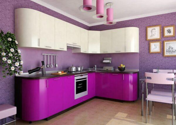 Дизайн монохромной кухни с поверхностями шагрень