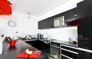 Черно-белая кухня: дизайн и правильное оформление