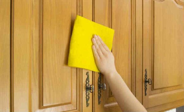 Отмываем кухонный гарнитур из МДФ от жира