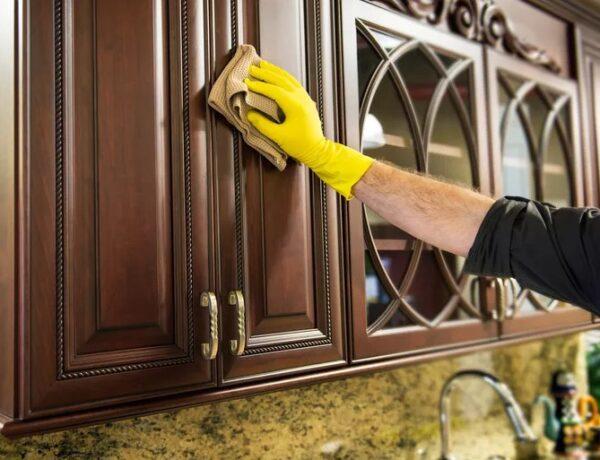 Мытье кухни из МДФ