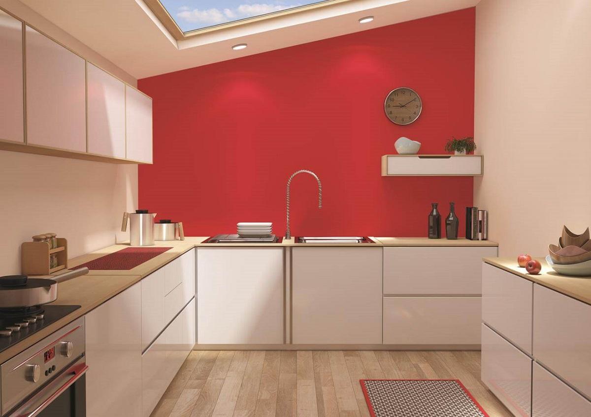 отделка стен кухни краской
